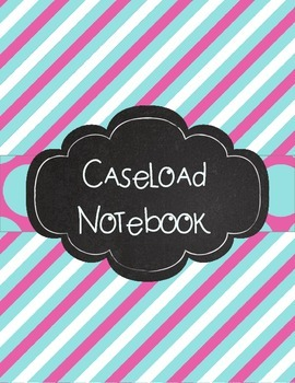 Special Education Caseload Teacher Binder Aqua and Pink Stripes and Polka Dots