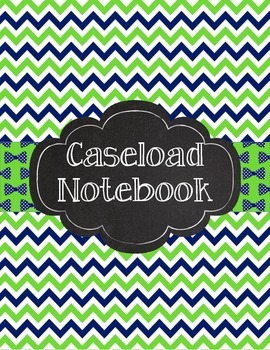 Special Education Caseload Teacher Binder Green Navy Chevron and Bow Ties