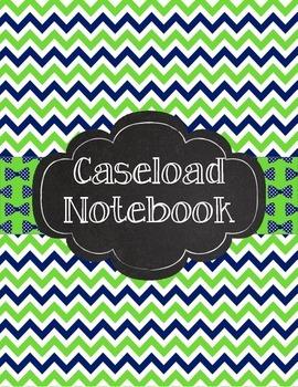 Special Education Caseload Teacher Binder Green Navy Chevr