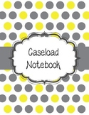 Special Education Caseload Teacher Binder Yellow and Gray Polka Dot
