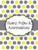 Special Education Caseload Teacher Binder Yellow and Gray