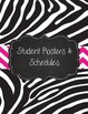 Special Education Caseload Teacher Binder Zebra and Pink Chevron