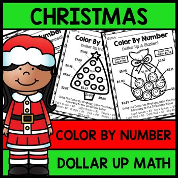 Special Education Christmas - Color By Number - Dollar Up - Math - Money