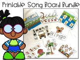 Special Education Circle Time Song Board Bundle