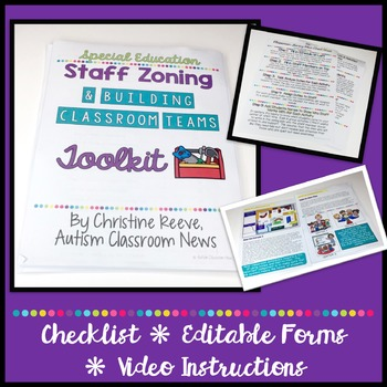 Special Education Classroom Building Classroom Teams & Zoning Plans Toolkit