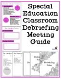 Special Education Classroom Team Debriefing/Planning Meeti