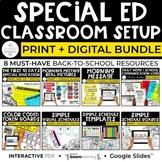 Special Education Classroom Setup Bundle for New Teachers