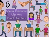 Special Education Clip Art Visual Directions {Commercial Use}