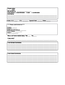 Special Education Communication Log