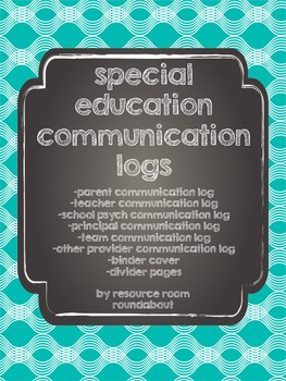 Special Education Communication Logs-Bright Colors