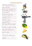 Special Education Cooking Recipe Chicken Wrap