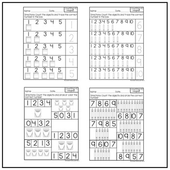 Special Education Counting 1-10: August