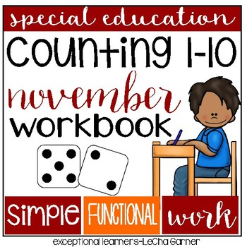 Special Education Counting 1-10: November