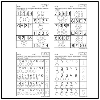 Special Education Counting 1-10: Year Long BUNDLE