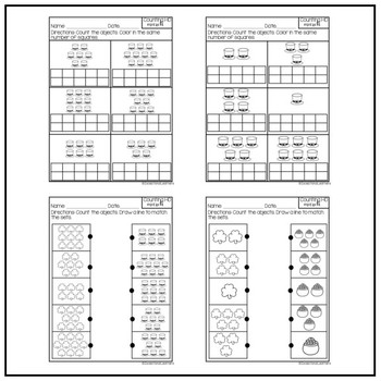 Special Education Counting 1-10: March