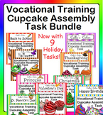Special Education Work Box Bundle Cupcake Assembly Task