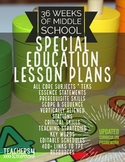 36 Weeks SPED LESSON PLANS*Full Curriculum Framework*Scope
