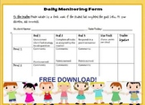 Special Education Daily Behavior Tracker