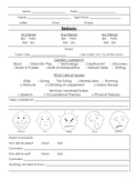 Special Education Daily Communication Sheet--Editable