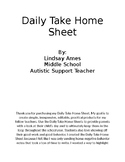Special Education- Daily Take Home Sheet