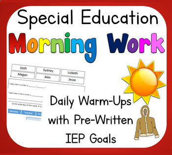 vocational education homework resources lesson plans teachers Typing Skill On Resume Sample special education daily warm up life skills with pre written iep goals