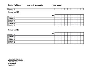 Special Education Data Sheet