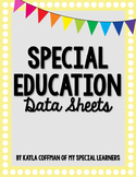 Special Education Data Sheets