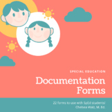 Special Education Documentation Forms