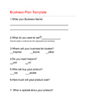 Special Education Easy Business Plan Template