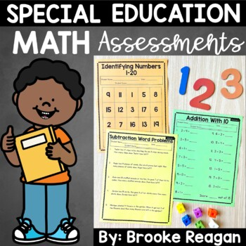 Special Education Progress Monitoring Math Assessments