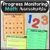 Special Education Progress Monitoring Math Assessments