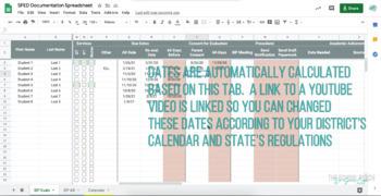 Special Education Evaluation Google Spreadsheet