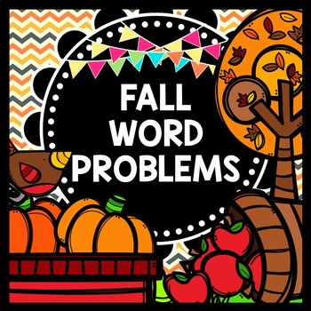 Special Education {Fall} {Autumn} Math Word Problems - Addition Subtraction