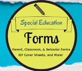 Special Education Forms