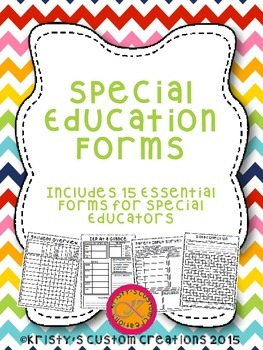 Special Education Forms- IE... by Kristy's Custom Creations ...