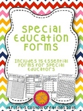 Special Education Forms- IEP & Data Collection Forms