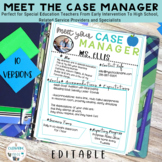 Special Education Forms | Meet The Case Manager | Sped | I