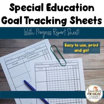 Special Education Goal Tracking and Progress Reports