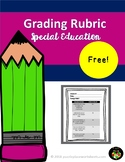 Special Education Grading Rubric