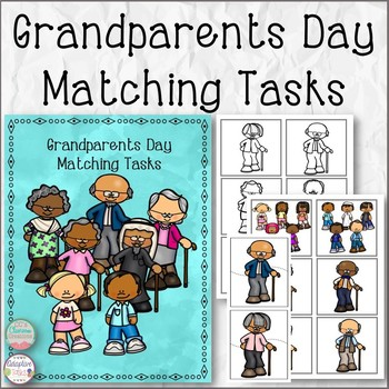 Special Education Grandparents Day Matching Tasks