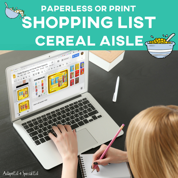 Special Education Grocery Store Shopping List: Cereal Aisle