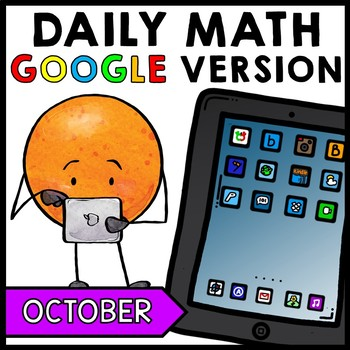 Special Education - Halloween - Warm Ups - GOOGLE - Word Problems - Daily Math