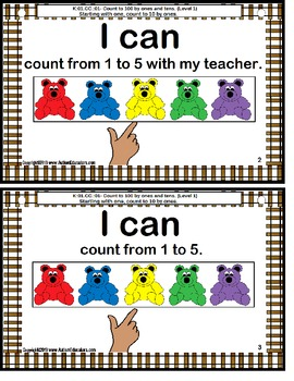 Special Education I CAN MATH Statements for Kindergarten Common Core {Autism}