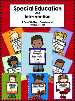 Special Education I Can Write a Sentence Bundle