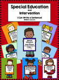 Back to School!  Special Education I Can Write a Sentence Bundle