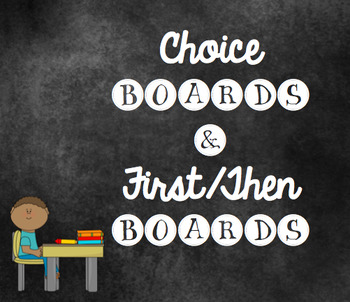 Behavior Charts/Behavior Boards/First Then Boards