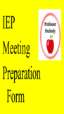 Special Education IEP/ARD meeting preparation