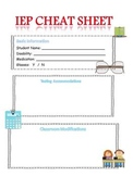 Special Education IEP Cheat Sheet