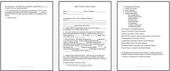 Special Education IEP Forms