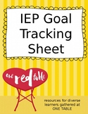 Special Education IEP Goal Tracking Sheet
